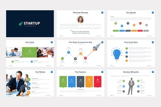 Thumbnail for Startup Keynote Template
