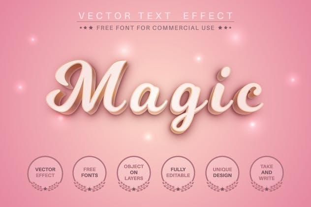 Woman's day - editable text effect for illustrator - product preview 3