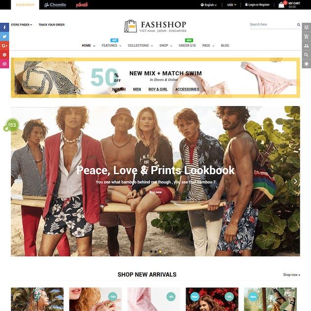 FashShop - Drag & Drop Bootstrap 4 Shopify Theme - product preview 2