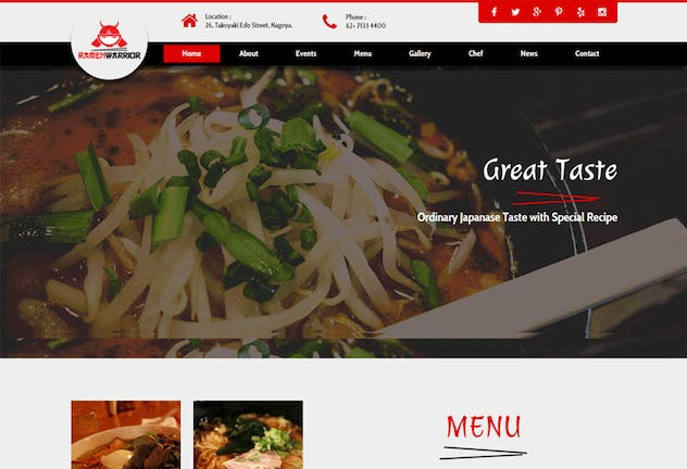 Ramen Warrior - Asian Restaurant Muse Template YR - product preview 2