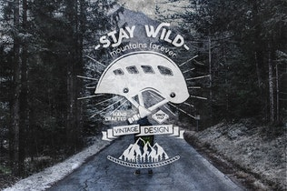 Thumbnail for Stay Wild Badge / Vintage Logo Branding Design