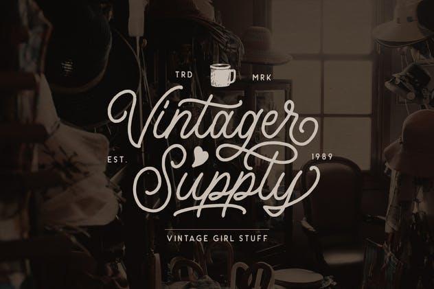 Headley - Vintage Font Duo - product preview 3
