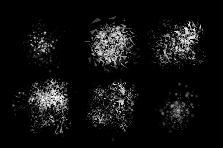 45 Disintegration Photoshop Brushes