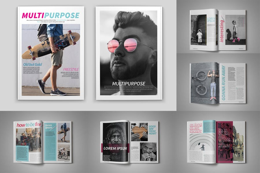 Multipurpose Magazine Template - product preview 2
