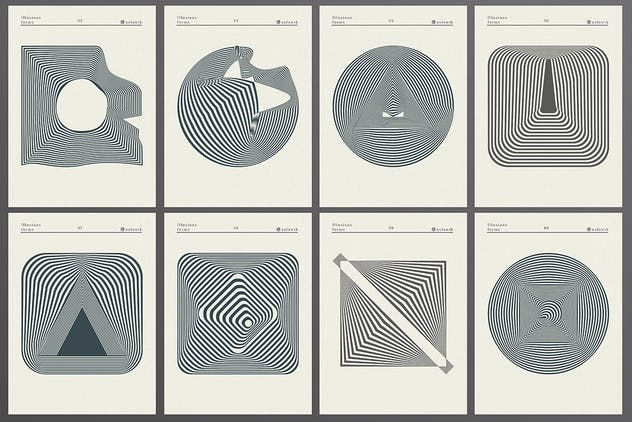 56 illusions forms abstract. Surrealistic optical - product preview 5