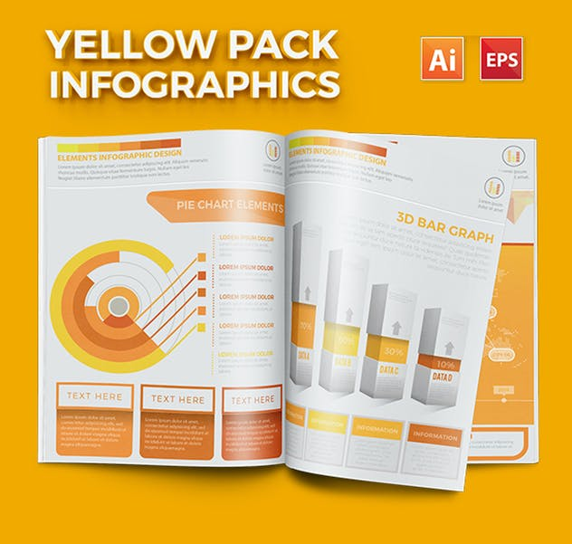 Yellow Infographics - product preview 6