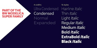 Thumbnail for Bw Modelica Condensed font family