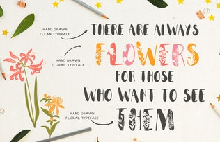 Thumbnail for Everbloom - floral typeface