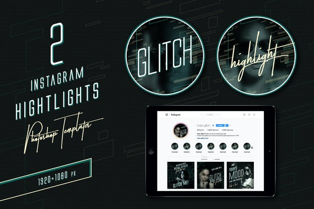 Glitch Instagram Templates - product preview 3