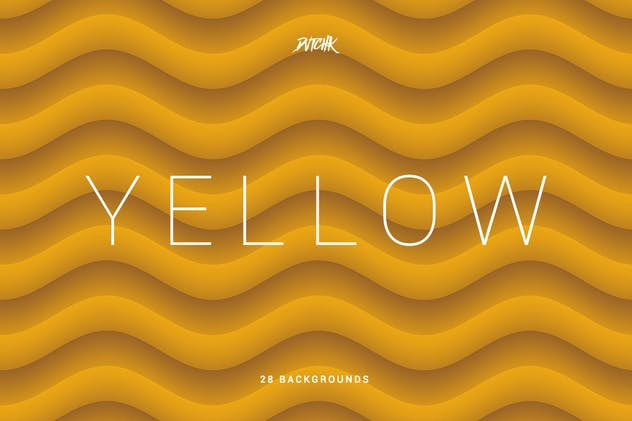 Yellow | Soft Abstract Wavy Backgrounds - product preview 2