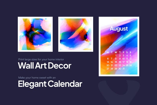 Watercolor Glitch Backgrounds - product preview 5