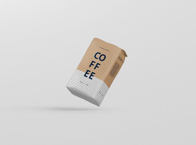 Coffee Paper Bag Mockup - product preview 12