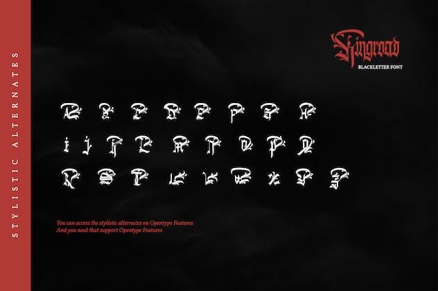 Kingroad-Blackletter Font