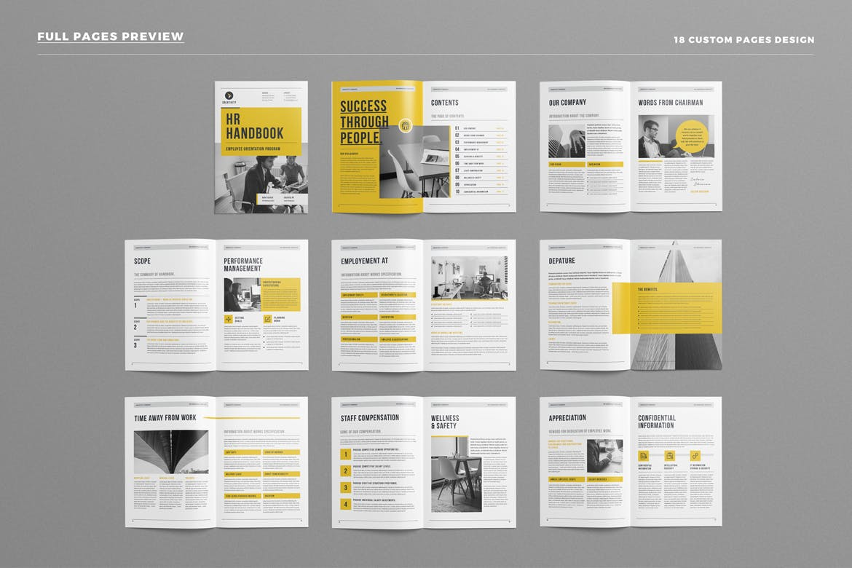 hr employee handbook by leaflove on envato elements