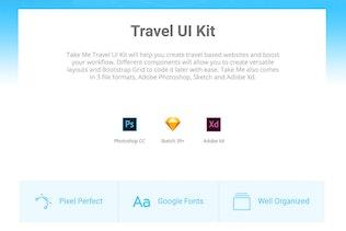 Thumbnail for Take Me UI Kit