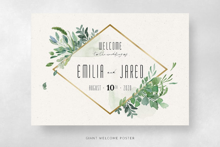Gold & Greenery Wedding Suite - product preview 10