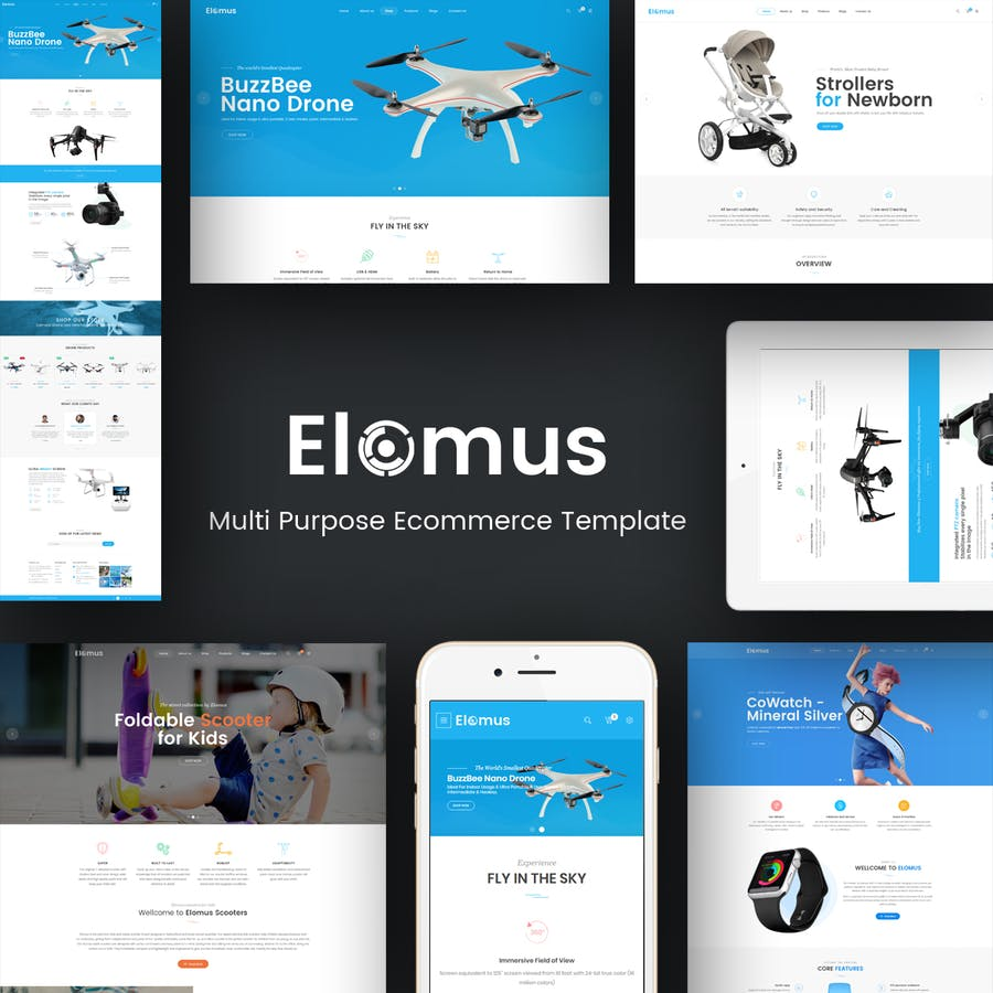 Elomus - Single Product Prestashop Theme - product preview 1