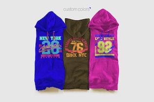 Thumbnail for Color Hoodie Sweatshirt Mockup