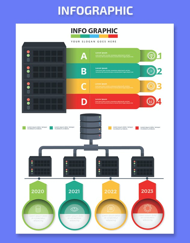 Database Infographics Elements - product preview 2