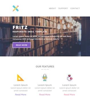 Thumbnail for Fritz Responsive Multipurpose Email Template