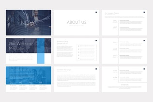 Thumbnail for Nova Business PowerPoint Template Pitch Deck