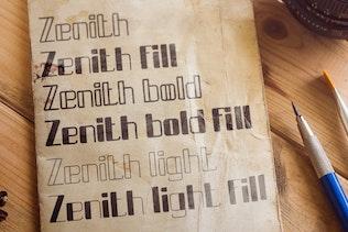 Thumbnail for Zenith typeface