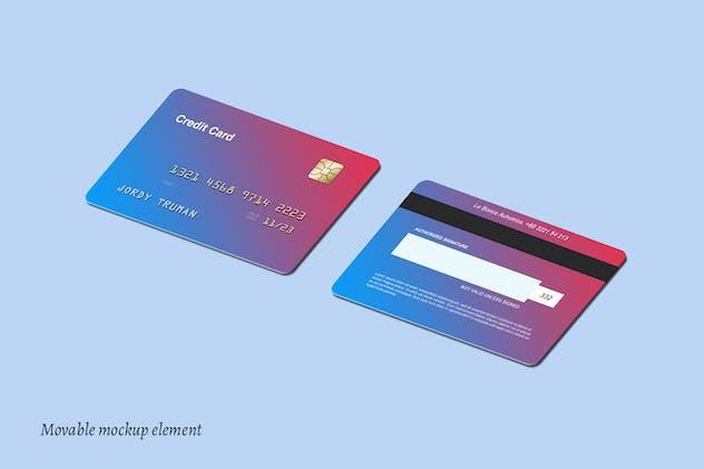 Isometric Credit Card Mockups