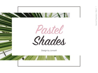 Thumbnail for Pastel Shades Keynote Template