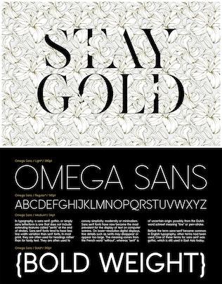 Thumbnail for KENJO FONT + OMEGA SANS FAMILY