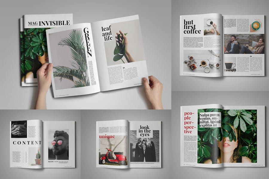 Invisible Magazine Template - product preview 2