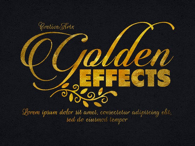 Gold Text Effects 1 - product preview 2
