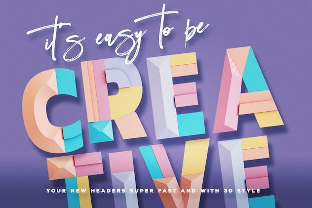 Decorative Geometry - Color SVG Font