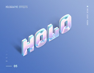 Thumbnail for Holographic Text - 10 PSD