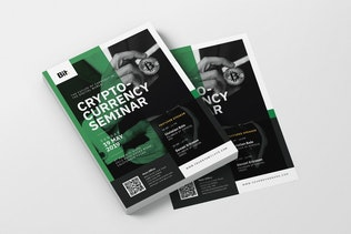 Crypto Currency Seminar AI and PSD Flyer Vol.1