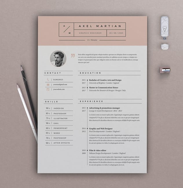Resume Axel - product preview 2