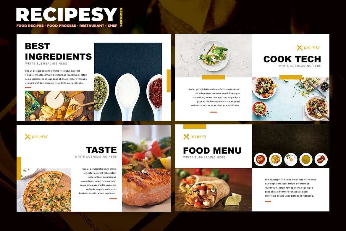 """Download 216 PowerPoint """"food"""" Presentation Templates"""