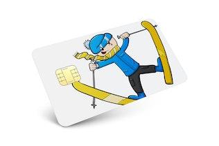 Thumbnail für Kredit- und Debitkarten-Mockup