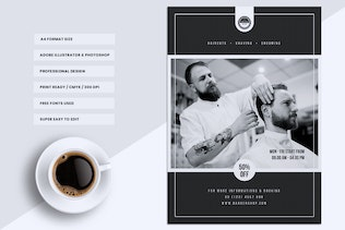 Thumbnail for Barbershop Flyer Templates