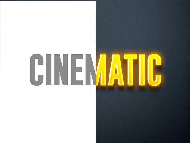 Cinematic 3D Text - product preview 1