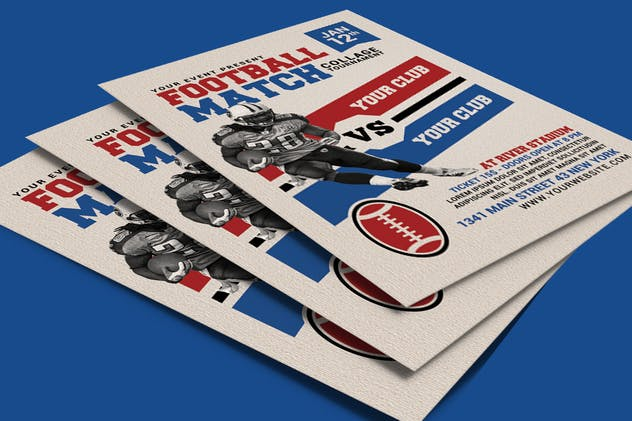 American Football Match Flyer
