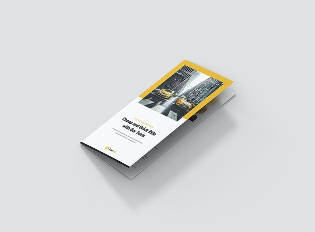 Taxi Cab – Brochures Bundle Print Templates 5 in 1 - product preview 14
