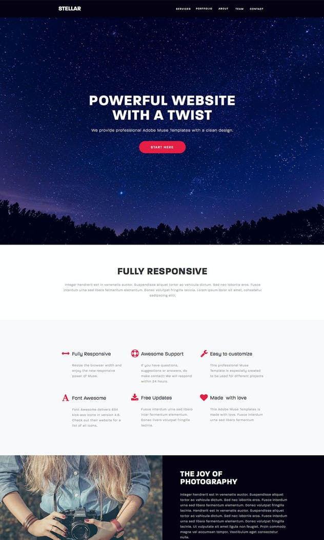 Stellar - Responsive Muse Template - product preview 2