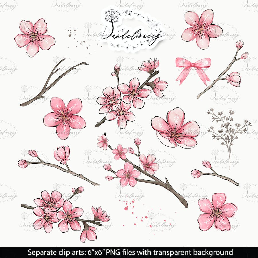 Cherry Blossom design - product preview 1