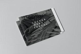 Thumbnail for US Letter Horizontal Brochure Mock-up 3