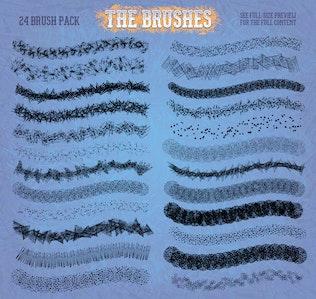 Thumbnail for Grit, Grunge & Grain Scatter Brushes