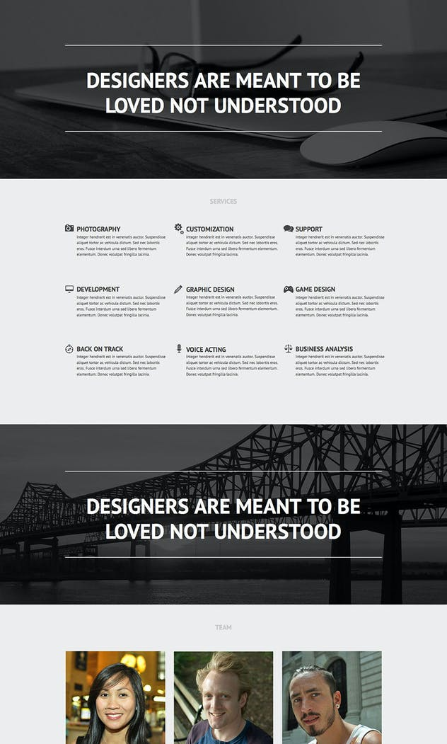 Flatblack - One Page Muse Template for Creatives - product preview 3