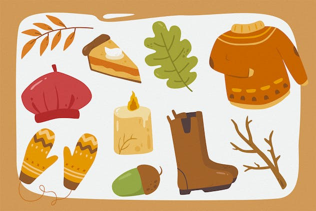 Falling Season Vector Clipart Pack - product preview 3