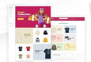 Thumbnail for Uneno - Kids Fashion eCommerce PSD Template