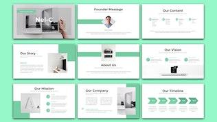 Миниатюра для Nel-C - Бизнес маркетинг Google Slide Шаблон