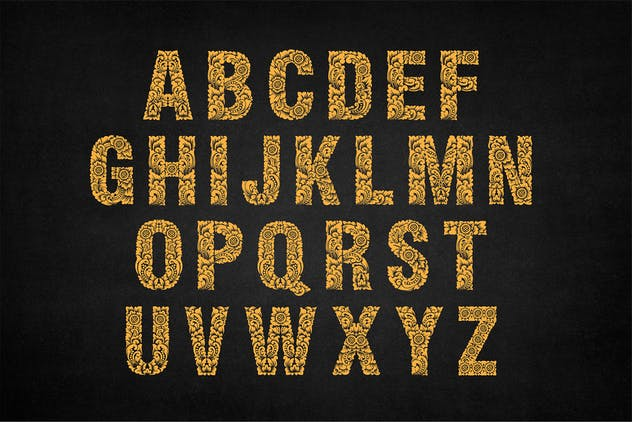 Dewata - Ornament Typeface - product preview 2